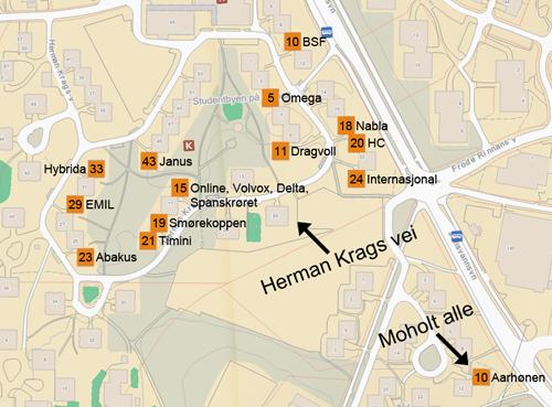dragvoll kart Studentkjellere dragvoll kart